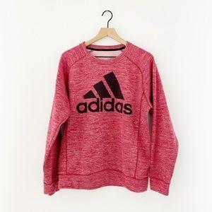 Red/Pink Adidas Sweatshirt Women's Size Medium